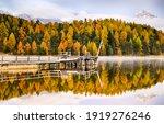 Autumn Forest Lake Pier...