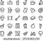Food Line Icon Set   Hot Cup ...