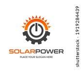 solar power vecor logo template.... | Shutterstock .eps vector #1919284439