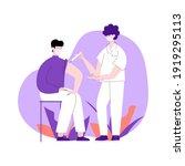 coronavirus vaccination  doctor ... | Shutterstock .eps vector #1919295113
