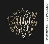 luxury gold black birthday girl ... | Shutterstock .eps vector #1919303333