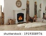 Beautiful Fireplace And Basket...