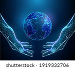 abstract pair of hands holding...   Shutterstock .eps vector #1919332706
