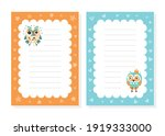 cute childish lined note sheets ... | Shutterstock .eps vector #1919333000