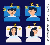 set of people who sleeping at... | Shutterstock .eps vector #1919346719