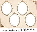 brown oval frame set with... | Shutterstock .eps vector #1919352020