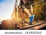 men are hiking in the mountains ... | Shutterstock . vector #191935310