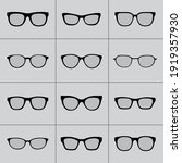 glasses collection icon symbol...   Shutterstock .eps vector #1919357930