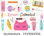 vector beauty set. makeup... | Shutterstock .eps vector #1919364326