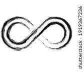 grunge infinity symbol.... | Shutterstock .eps vector #1919367236