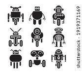 robot icon set vector...   Shutterstock .eps vector #1919371169