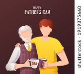 happy father's day greeting... | Shutterstock .eps vector #1919375660