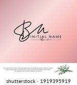 b m bm initial letter... | Shutterstock .eps vector #1919395919