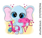 cool elephant with the... | Shutterstock .eps vector #1919396546