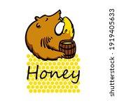 Bear Licks Paw With Honey ...