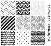 set of nine abstract hand drawn ... | Shutterstock .eps vector #191941433