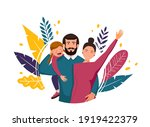 vector illustration  happy... | Shutterstock .eps vector #1919422379