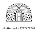 glamping accomodation doodle...   Shutterstock .eps vector #1919422940