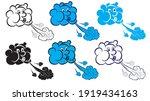 set of image of a cute cartoon...   Shutterstock .eps vector #1919434163
