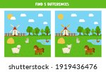 find five differences between... | Shutterstock .eps vector #1919436476