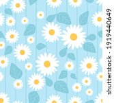 seamless pattern with daisy... | Shutterstock .eps vector #1919440649