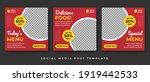 set of editable square banner... | Shutterstock .eps vector #1919442533
