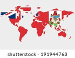 the flag of bermuda in the... | Shutterstock .eps vector #191944763