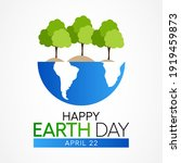 earth day is an annual event...   Shutterstock .eps vector #1919459873