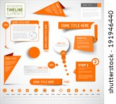 Vector Orange Infographic...