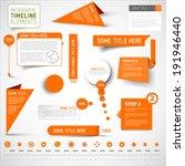 vector orange infographic...