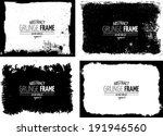 Stock vector grunge frame set vector template texture 191946560