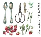 collection of watercolor... | Shutterstock . vector #1919482826