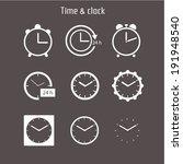 vector set of white clocks... | Shutterstock .eps vector #191948540
