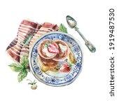 watercolor illustration in... | Shutterstock . vector #1919487530