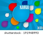 colors abstract drops on blue... | Shutterstock .eps vector #191948993