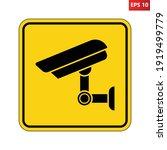 caution surveillance camera in... | Shutterstock .eps vector #1919499779
