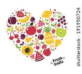 fruit set   Shutterstock .eps vector #191950724