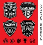 athletic patch emblems | Shutterstock .eps vector #191951720