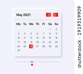 calendar widget template. ui ... | Shutterstock .eps vector #1919519909