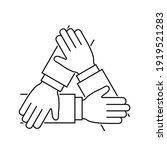 hands together line icon ... | Shutterstock .eps vector #1919521283