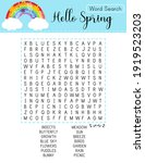 spring word search puzzle with... | Shutterstock .eps vector #1919523203