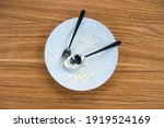 dirty dishes messy empty plates ...   Shutterstock . vector #1919524169