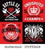 mma mixed martial arts emblems | Shutterstock .eps vector #191952626