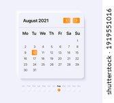 ui calendar concept for august...
