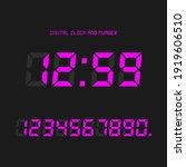 digital clock and number set ... | Shutterstock .eps vector #1919606510