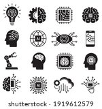 artificial intelligence icon... | Shutterstock .eps vector #1919612579