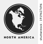 north america icon. round logo...   Shutterstock .eps vector #1919627696