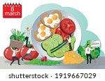 men congratulate women on... | Shutterstock .eps vector #1919667029