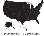political divisions of the us.... | Shutterstock .eps vector #1919669393