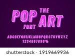 pop art font set collection ...   Shutterstock .eps vector #1919669936